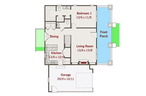 house plans floor master bungalow with floor master 50115ph architectural designs house plans