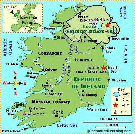 5 themes of geography ireland simple map of ireland of ireland map quiz printout map