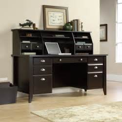 Computer Workstation Desk And Hutch Shoal Creek Executive Office Desk 408920 Sauder