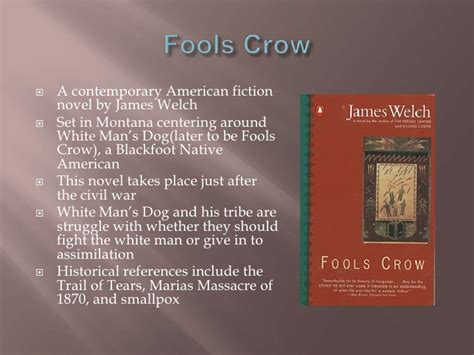 themes in fools crow by james welch native american medicine and literature