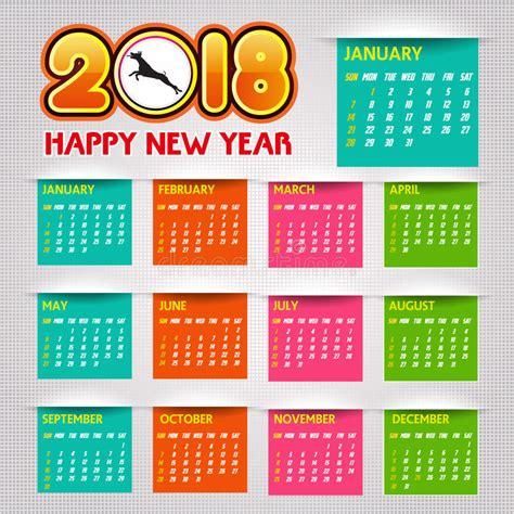 new year 2018 february ilustra 231 227 o do vetor do ano novo feliz do calend 225 2018