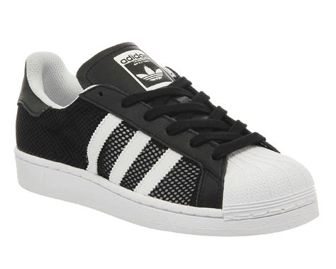 Adidas Superstar 1 by Adidas Superstar 1 Black White Mesh Exclusive Trainers