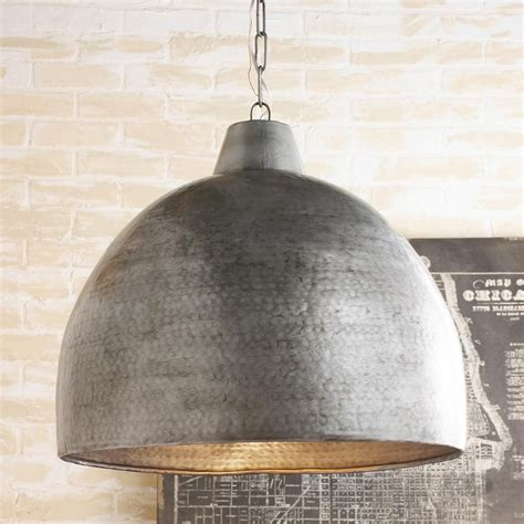 Kitchen Dome Light Hammered Steel Oversized Dome Pendant Steel Pendants And Studio