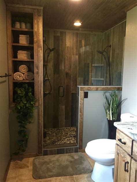 custom bathroom ideas rustic master bathroom upgrade wood tile shower custom