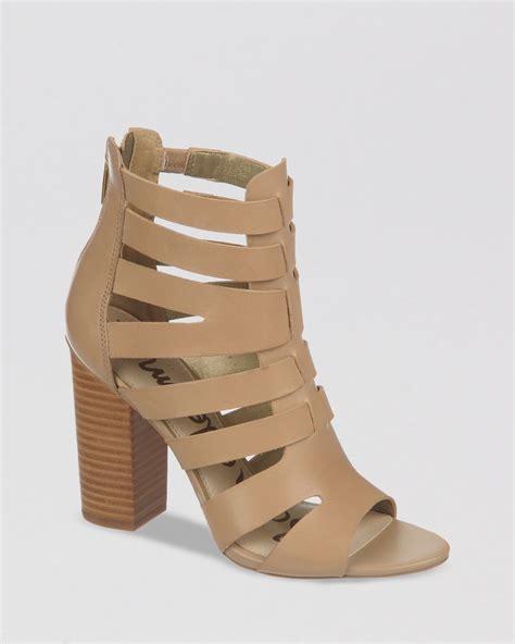 sam edelman high heels sam edelman sandals yasmine block high heel in brown lyst