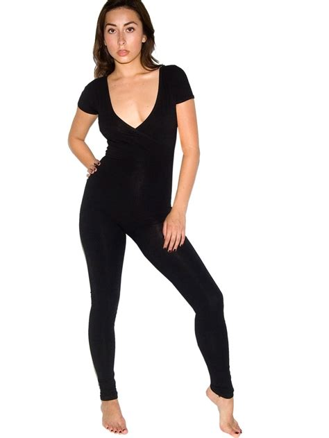 Yea Or Nay Cotton Spandex Jersey Criss Cross Sleeve Unitard 3800 At American Apparel by Cotton Spandex Jersey Criss Cross Sleeve Unitard