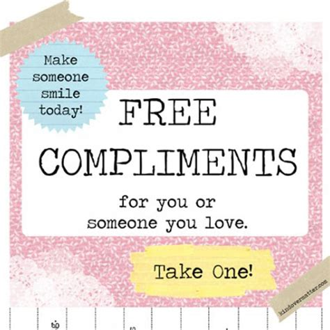 what compliments printable compliments