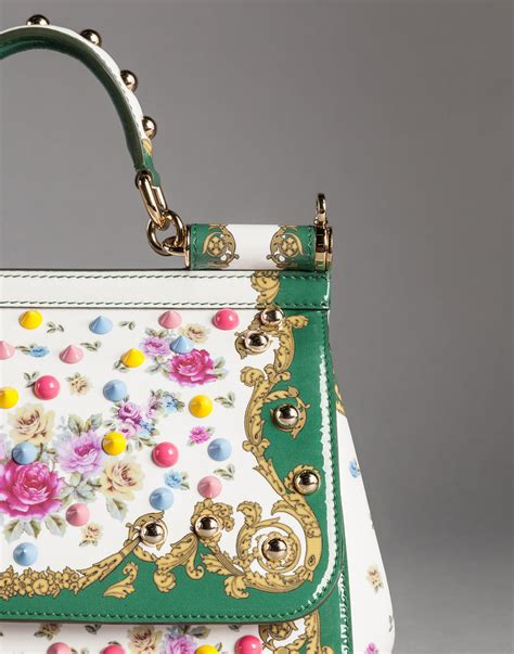 Dolce And Gabbana White Open Leather Bag by Dolce Gabbana Medium Patent Leather Sicily Bag With