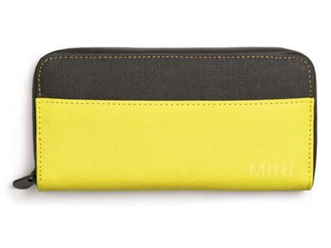 Softlens Color Mini Mania mini cooper wallet with color block in grey lemon