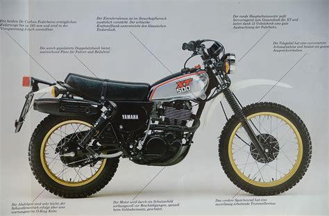 Alte Motorrad Kleider by Yamaha Xt 500 Prospekt 1986 Mo Pinterest Motorr 228 Der