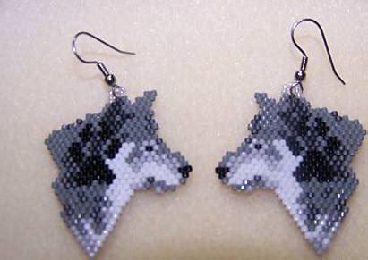 beaded wolf earring pattern beaded wolf earring pattern crafts bead weaving