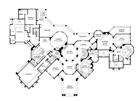 large home floor plans home plan 134 1355 floor plan story blueprint