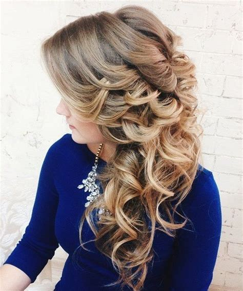 Curly Hairstyles To The Side For Wedding by 40 Gorgeous Wedding Hairstyles For Hair