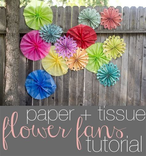How To Make A Tissue Paper Fan - 25 great ideas about scrapbook paper flowers on