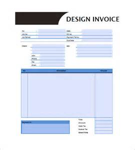 Design Invoice Template by Graphic Design Invoice Templates 8 Free Word Excel