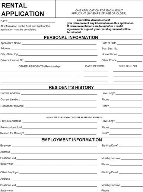 Free Wisconsin Rental Application Form Pdf 97kb 2 Page S Wisconsin Employment Application Template