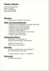 resume sles for college students the world s catalog of ideas