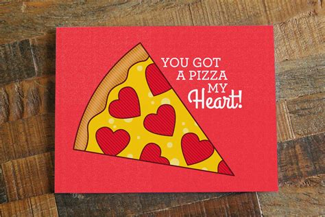 pizza card pizza pun card pizza by tinybeecards