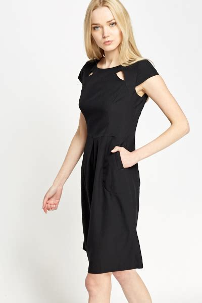 Cut Out Formal Skater Dress   Just £5