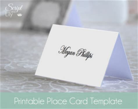folded name place cards template printable place card template instant card