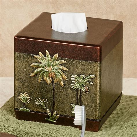 palm tree bathroom accessories havana tropical palm tree bath accessories