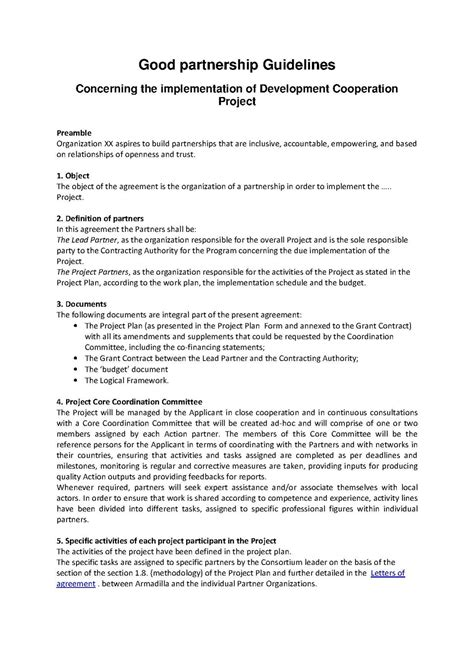 Agreement Letter Writing partnership agreement free printable documents