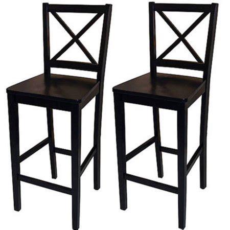 Black Cross Back Bar Stools by Virginia Cross Back 30 Quot Bar Stool Set Of 2