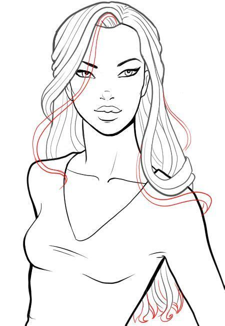 medium length hairstyle sketches best 25 drawing hair ideas on pinterest hair sketch