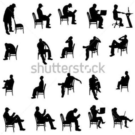 silhouette persone sedute silhouette vettoriali di persone sedute su uno sfondo