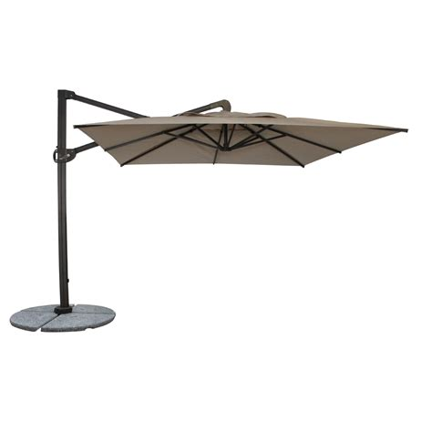 Patio Furniture Umbrellas Woodard 10 Foot Square Cantilever Fiberbuilt Cantabria Umbrella 1410cahcw