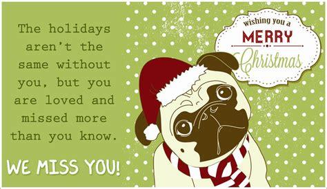pug e card merry miss you ecard free cards