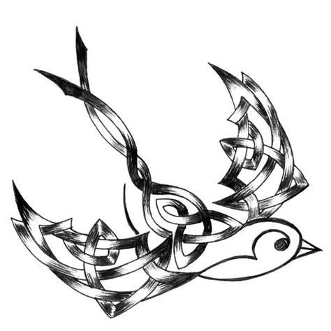 freedom tribal tattoos tribal sparrow design