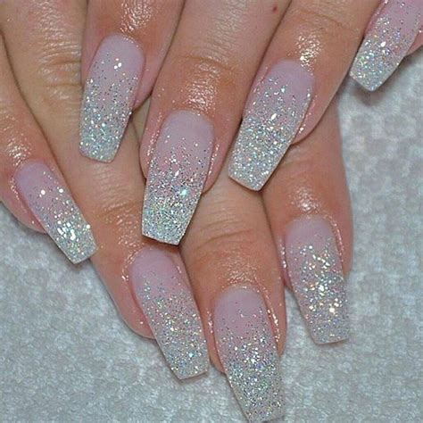Glitter Nagels by 1000 Ideas About Pink Glitter Nails On