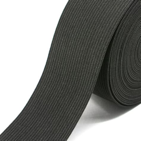 knit elastic 2 inch 50mm heavy stretch black and white knit elastic