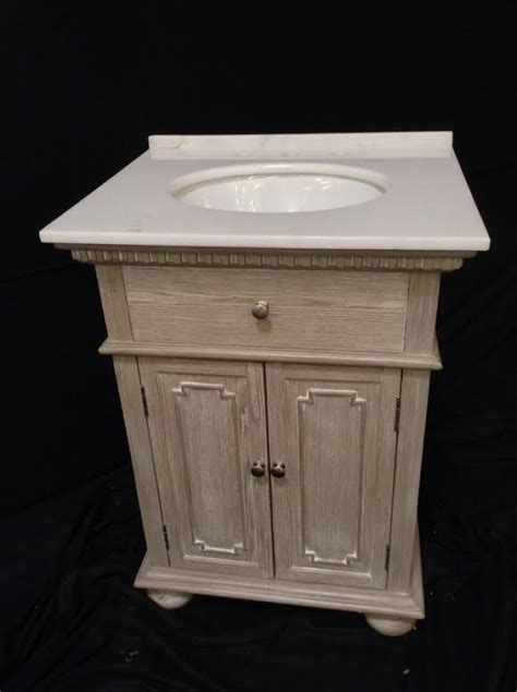 26 inch single sink bathroom vanity in distressed light