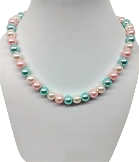 bling n single line fancy pearl in white pink and