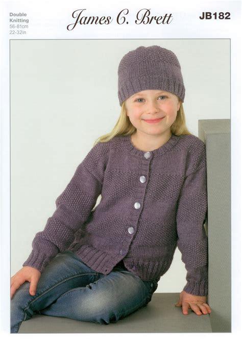 knitting pattern girl cardigan buy james c brett jb182 knitting pattern girls cardigans