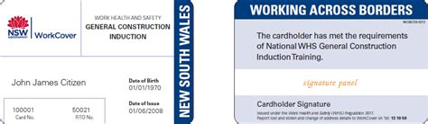 australian id card template sle nsw git card issued the whs regulation from