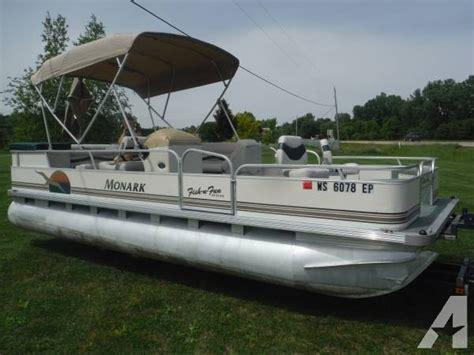 fish n fun pontoon boats 1999 monark 220 fish n fun pontoon boat 22 foot 1999
