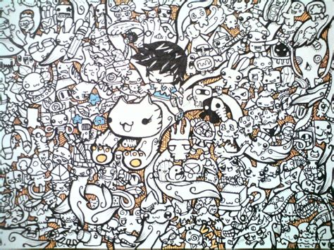 doodle drawing wallpaper doodle orange range 3 by shadowvan on deviantart