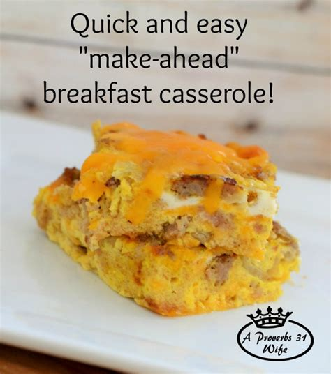 quick and simple breakfast casserole a proverbs 31 wife