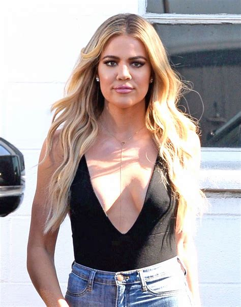 khloé kardashian khloe kardashian in ripped jeans leaves studio in van nuys