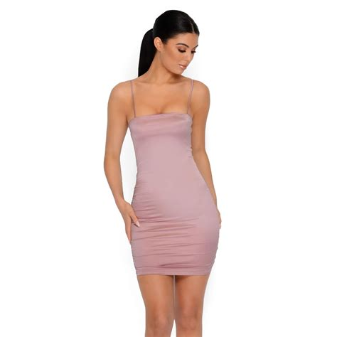 Dress Mini taut bothered satin strappy mini dress