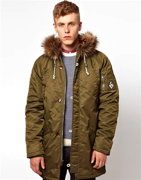 vans parka coat by joel tudor with in green for