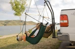 tailgate swing trailer hitch hammock aka the bumper thumper