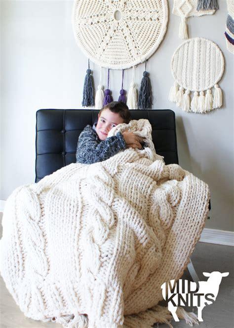 throw rug knitting patterns diy knitting pattern cable throw blanket rug