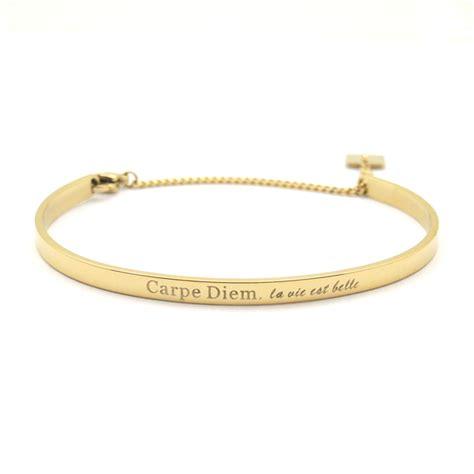 bracelet jonc zag bijoux carpe diem dor 233 zag bijoux sb2052do vente de bijoux de cr 233 ateurs