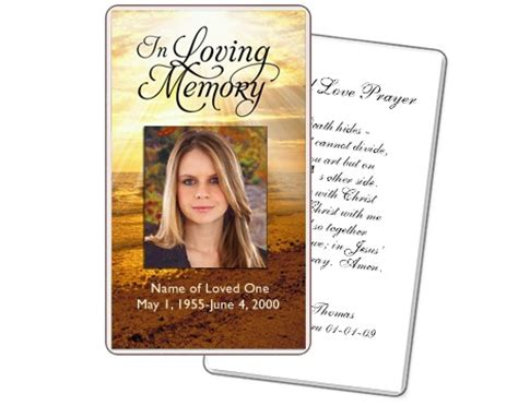 funeral prayer card template prayer cards shine prayer card templates prayer cards