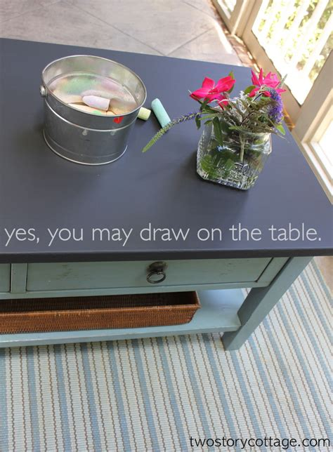 two story cottage a chalkboard paint coffee table redo so creative home decorating diy