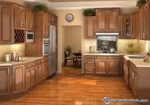 Chestnut glaze assembled kitchen cabinets